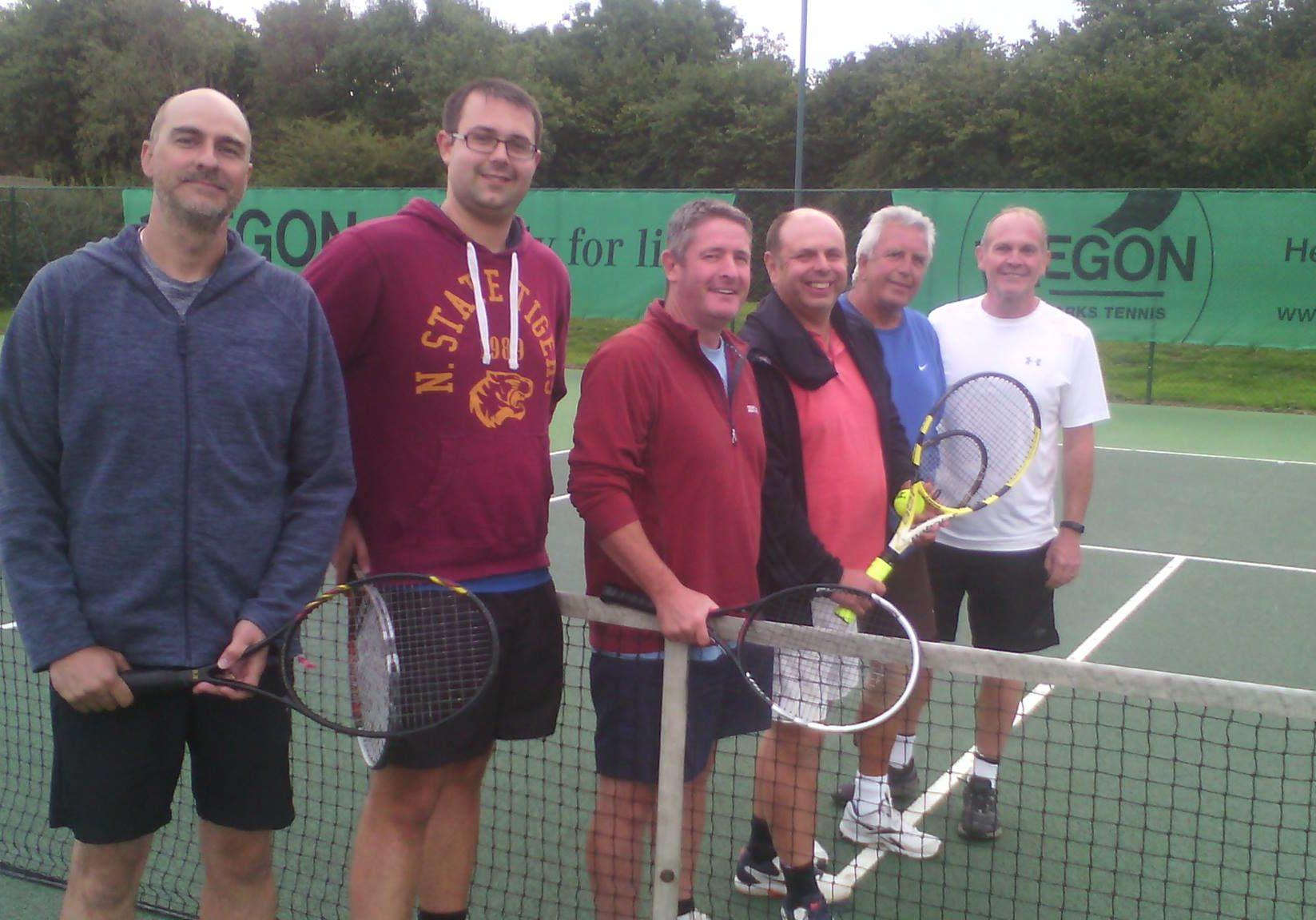 Mens 1 team following a match at Ashbourne